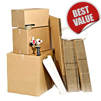 Deluxe 3 Bed Moving Pack 50 boxes